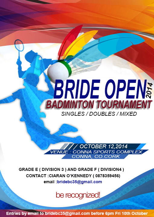Bride Open Badminton Tournament 12th October Grade E 3 And Grade